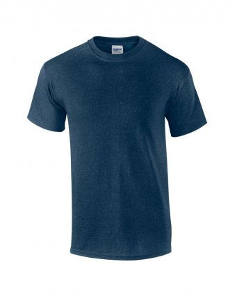100 cotton heather navy t shirt