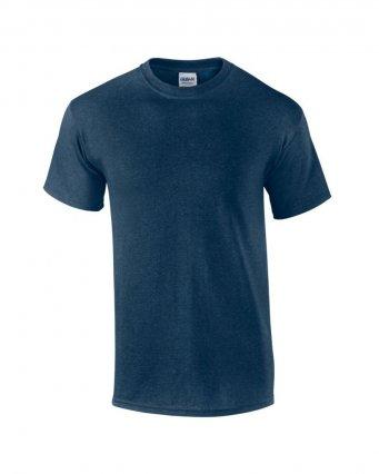 100 cotton heather navy t shirt