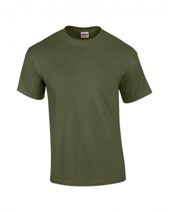 100 cotton military green t shirt