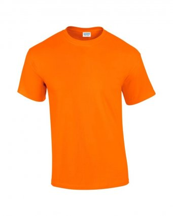 100 cotton s orange t shirt