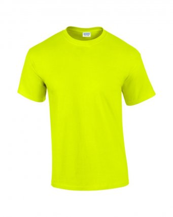 100 cotton safety green t