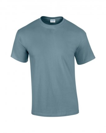 100 cotton stone blue t shirt