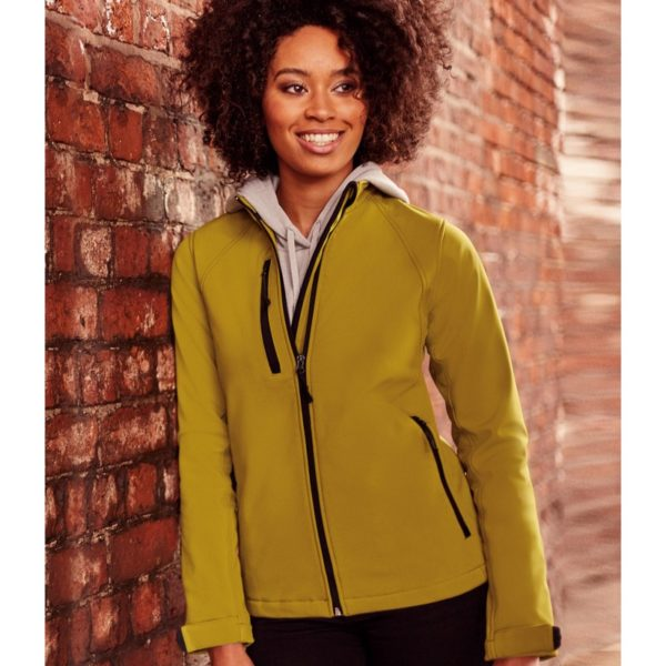 140f ladies soft shell russell