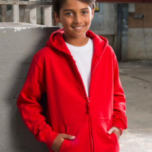 JH050B kids zipped hoodie