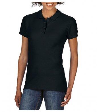 Ladies black 100 cotton polo