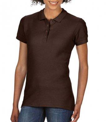 Ladies dark chocolate 100 cotton polo