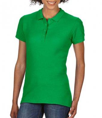 Ladies irish green 100 cotton polo