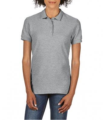 Ladies sport grey 100 cotton polo