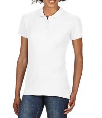 Ladies white 100 cotton polo