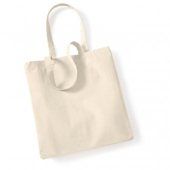 Natural Canvas Shopper Tote Bag