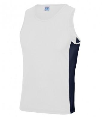 arc white french navy vest