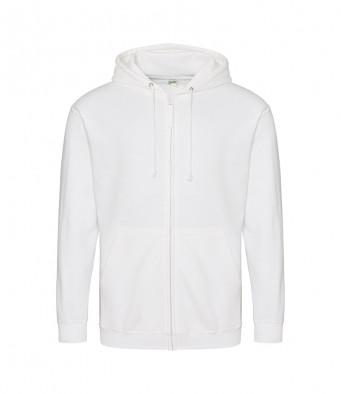 arctic white zipped hoodie