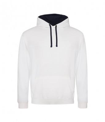 arcticwhite frenchnavy contrast hoodies