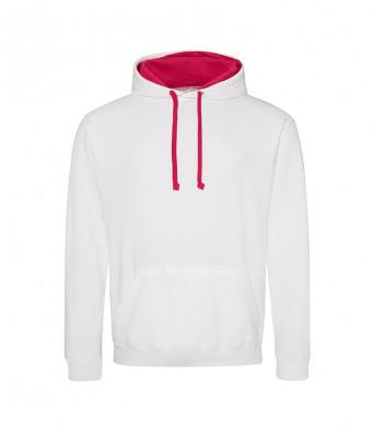 arcticwhite hotpink contrast hoodies