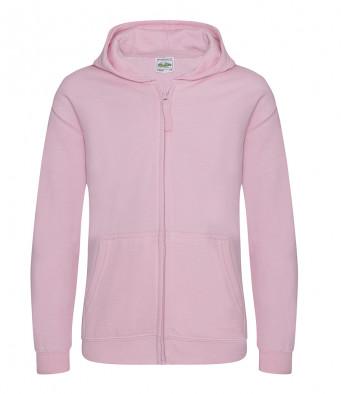 baby pink childrens zipped hoodie