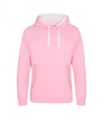 babypink arcticwhite contrast hoodies