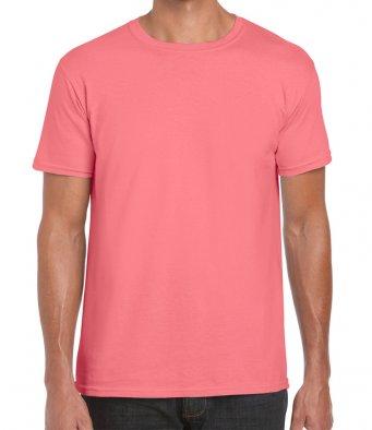 basic t shirt coral silk