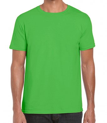 basic t shirt electric green