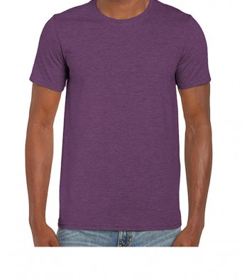 basic t shirt heather aubergine