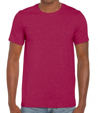 basic t shirt heather cardinal