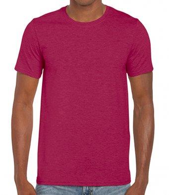 basic t shirt heather cardinal