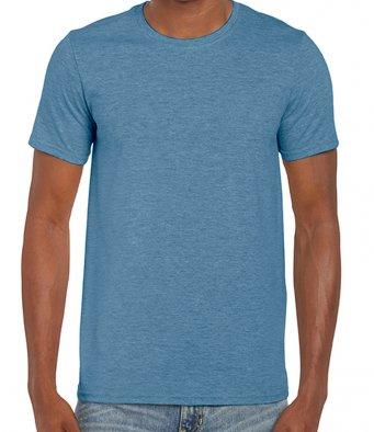 basic t shirt heather indigo