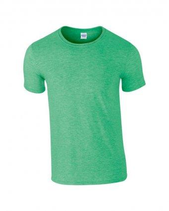 basic t shirt heather irish green