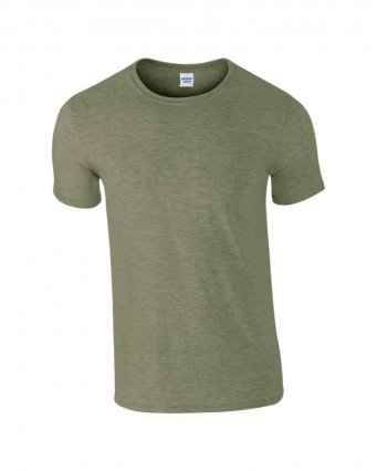 basic t shirt heather military green