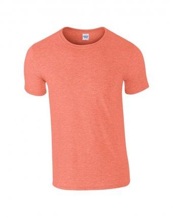 basic t shirt heather orange