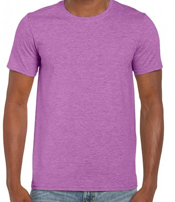 basic t shirt heather radiant orchid