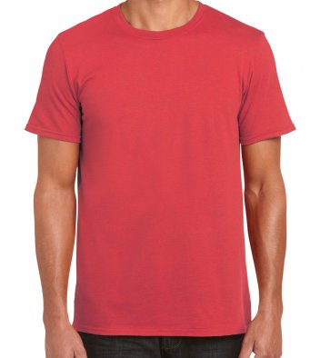 basic t shirt heather red