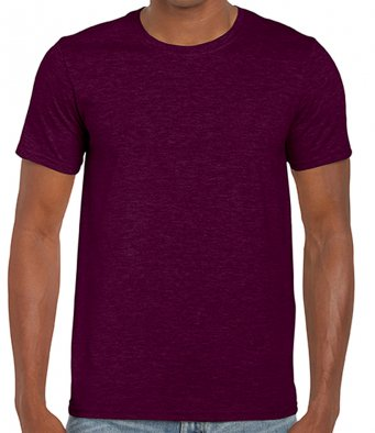 basic t shirt maroon