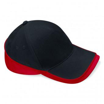 black classic red teamwear caps