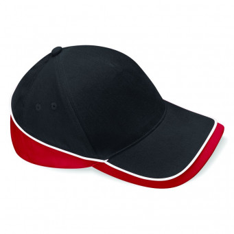 black classic red white teamwear caps