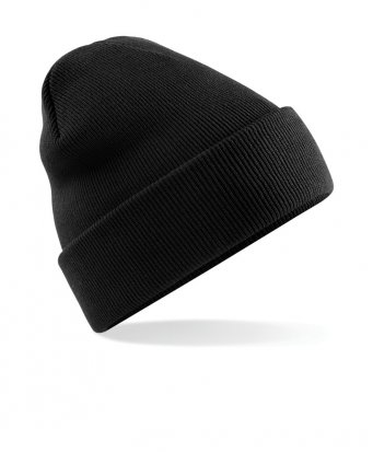 black cuffed beanie