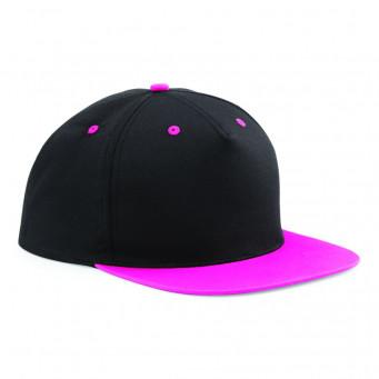 black fuchsia contrast snapback caps