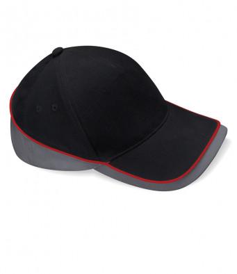 black graphite classic red teamwear caps