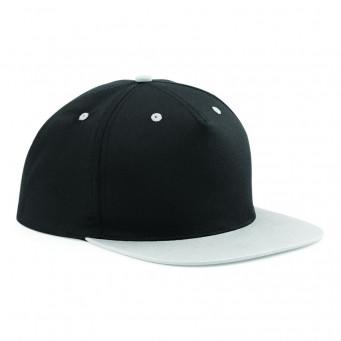 black grey contrast snapback caps