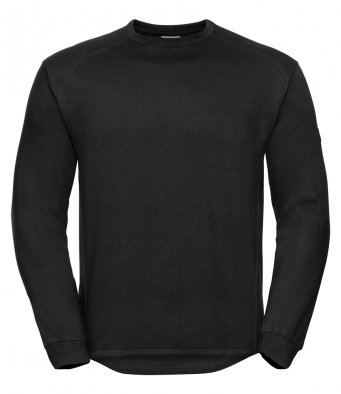 black heavyweight sweatshirt