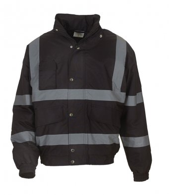black hi vis bomber jacket