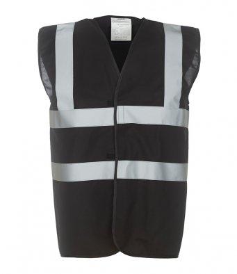 black hi vis vest