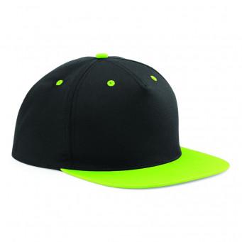 black limegreen contrast snapback caps