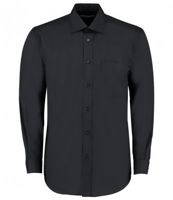 black long sleeve business shirt