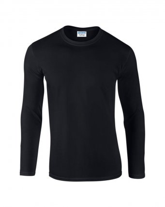 black long sleeve cotton t shirt