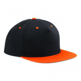 black orange contrast snapback caps