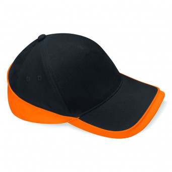 black orange teamwear caps