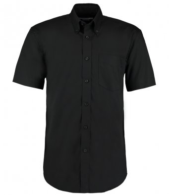 black oxford short sleeve shirt