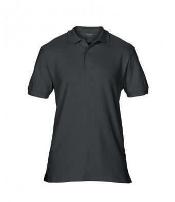 black premium cotton polo shirt