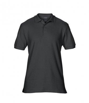 black premium cotton polo shirt