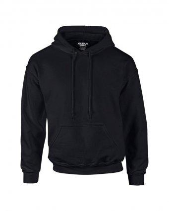 black premium overhead hoodie